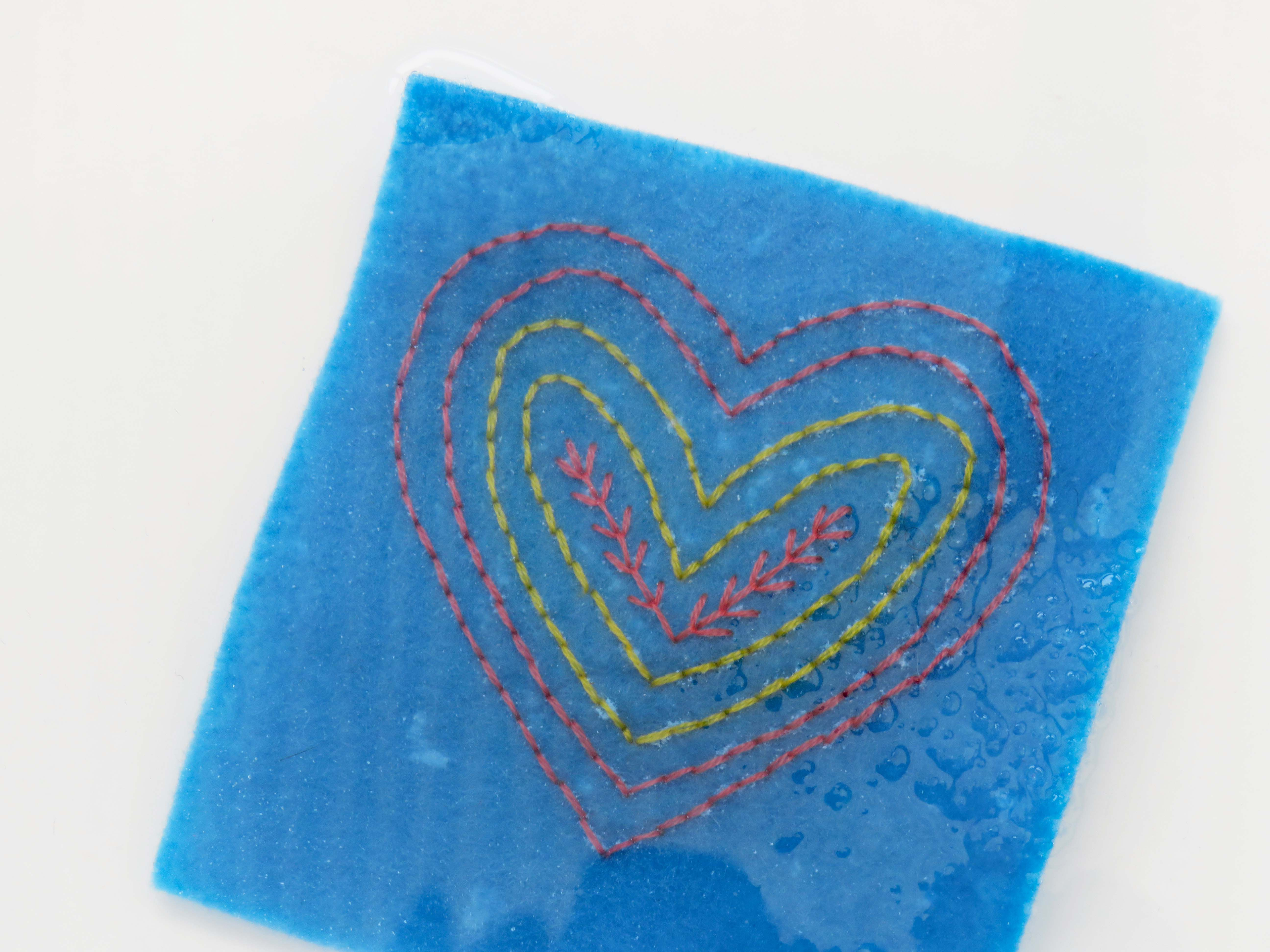 Heart decoration hand embroidery pattern by stitchdoodles