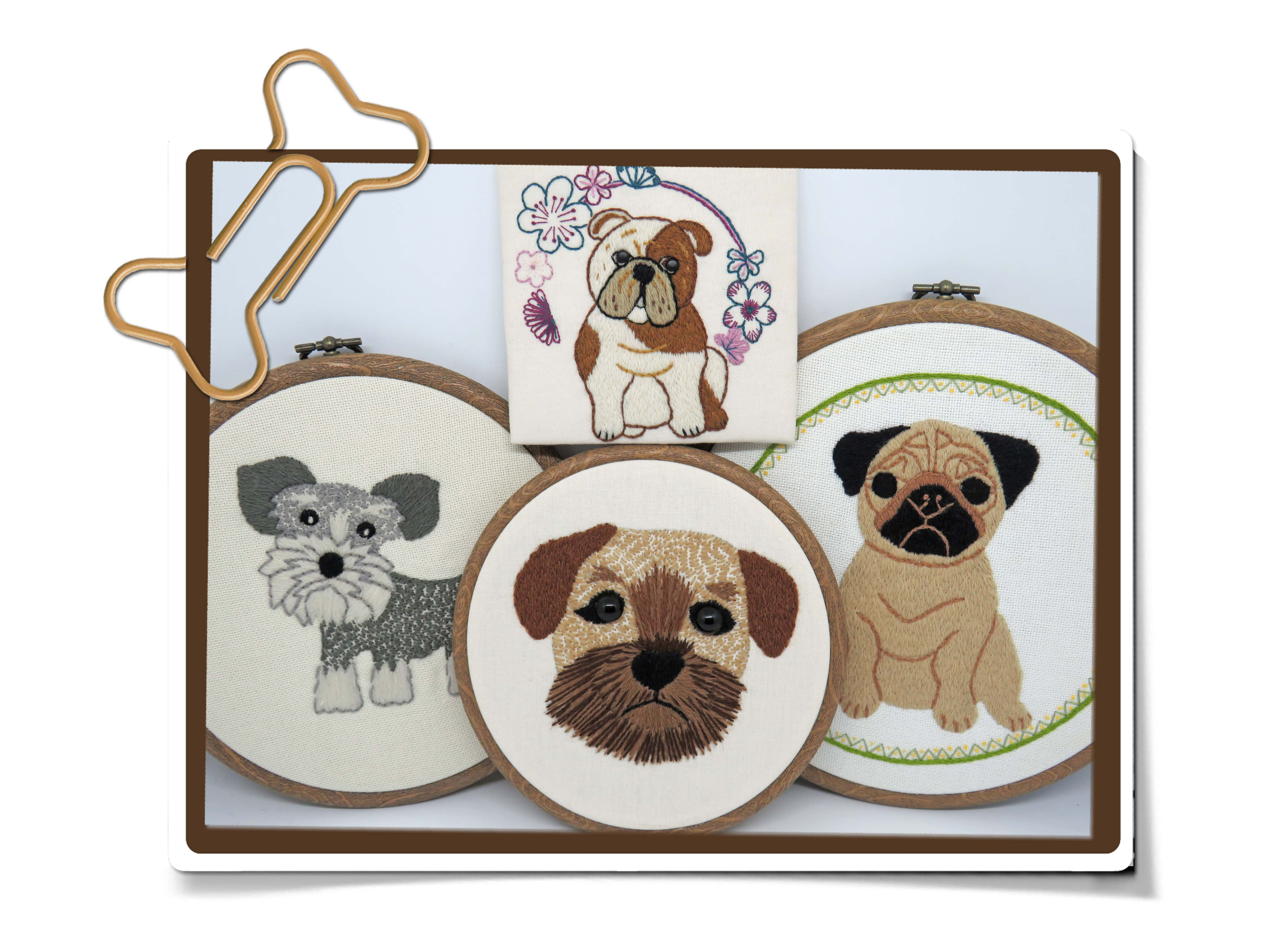 Dog embroidery patterns by stitchdoodles