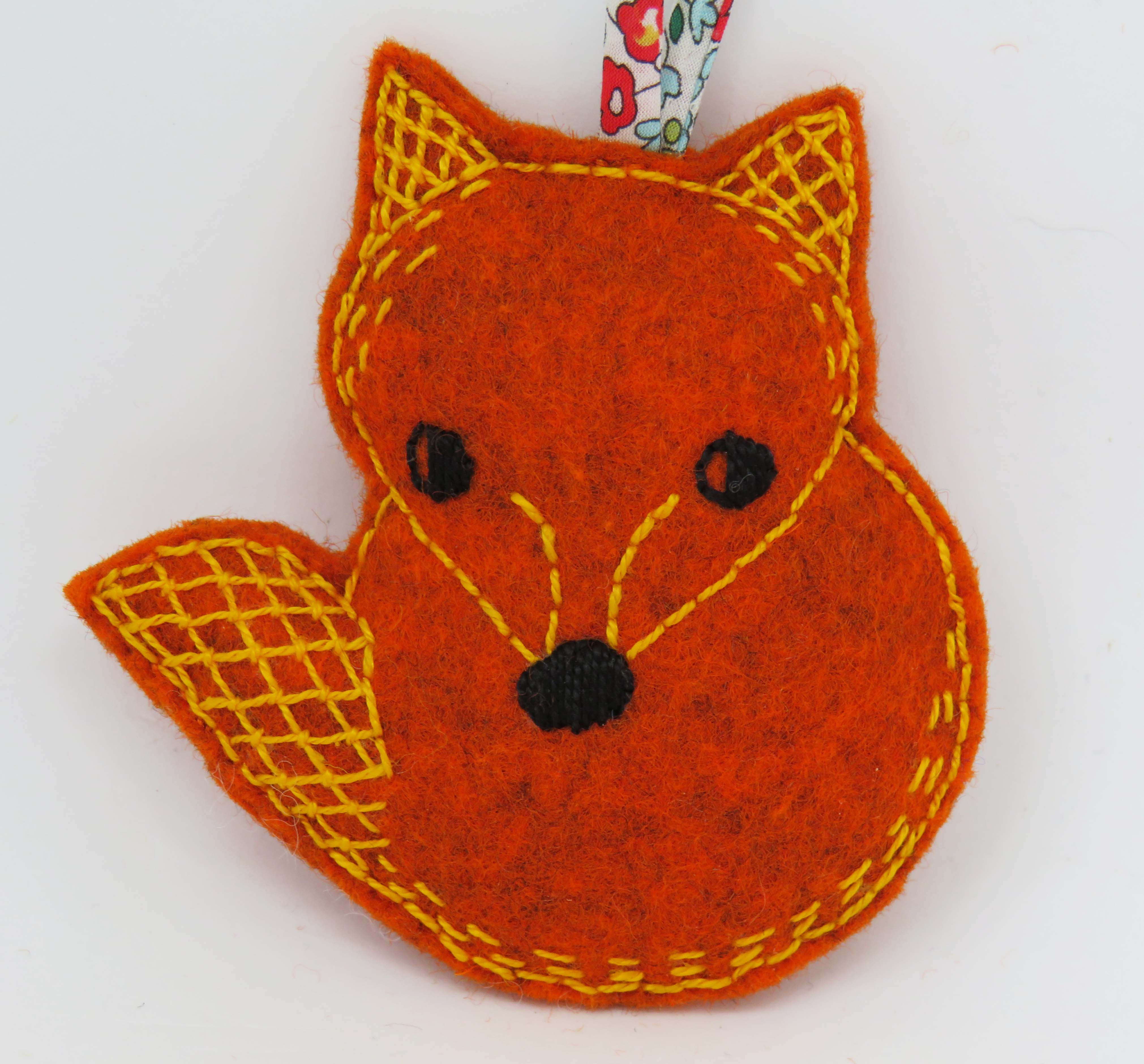fox hand embroidery pattern by stitchdoodles