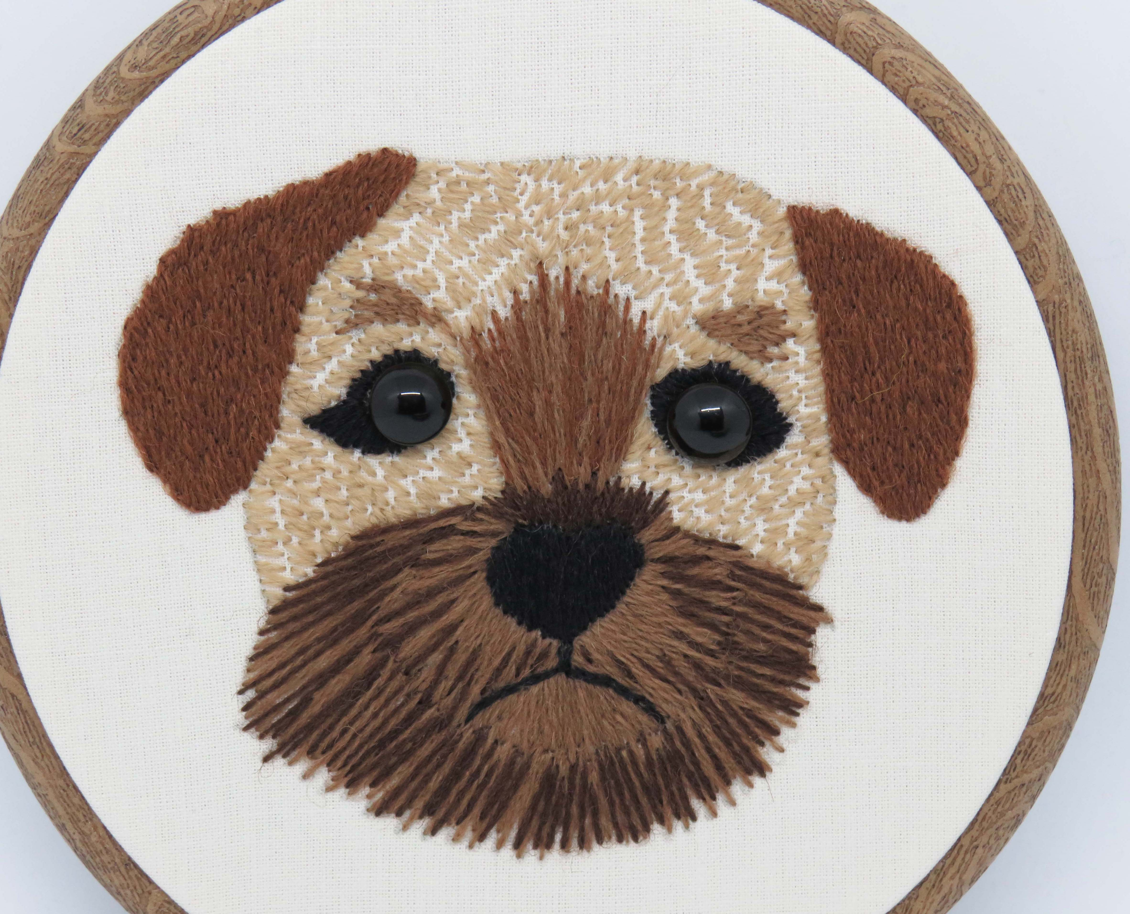 Border Terrier embroidery pattern