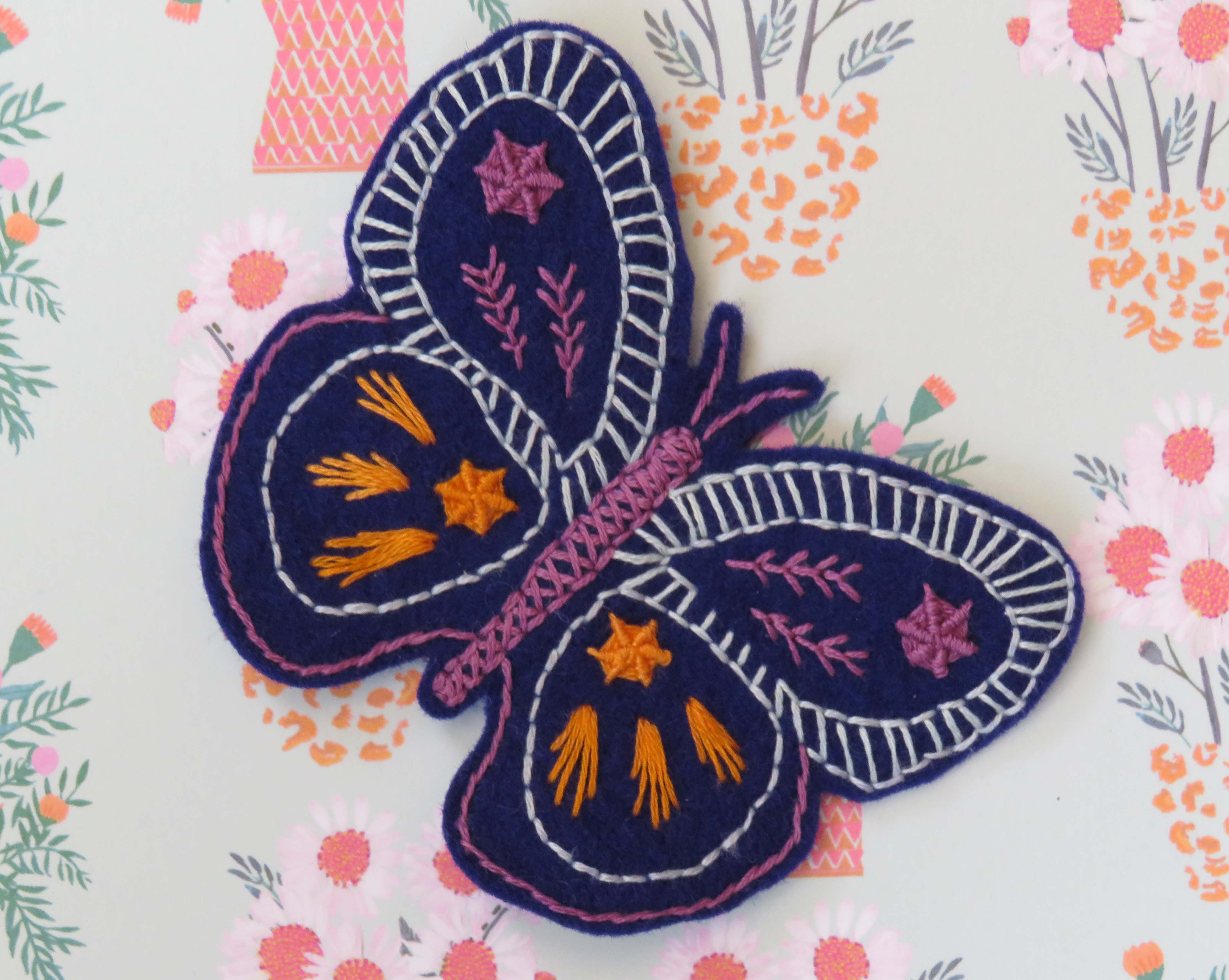 butterfly hand embroidery pattern by stitchdoodles