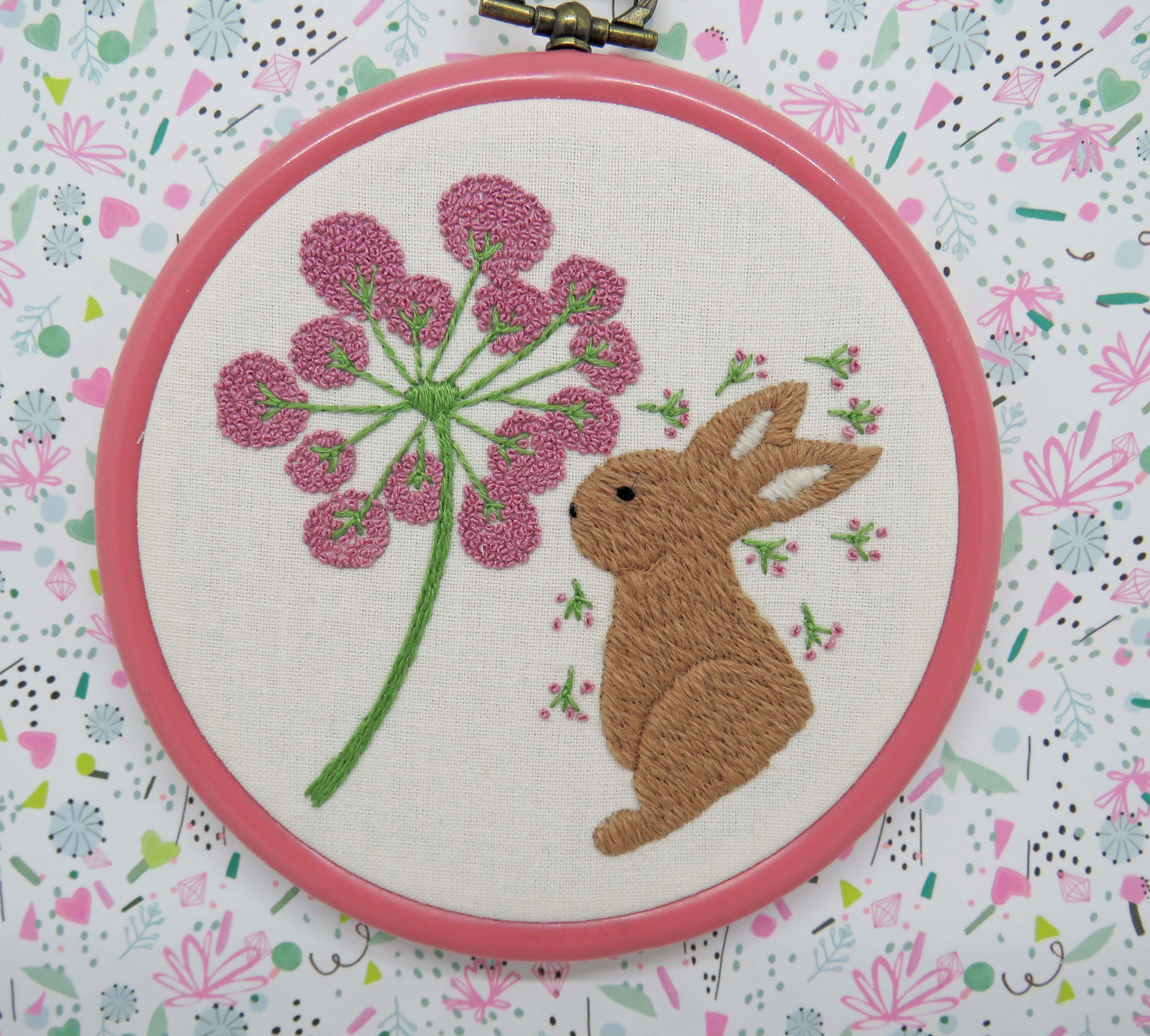 Hand embroidery rabbit pattern by stitchdoodles
