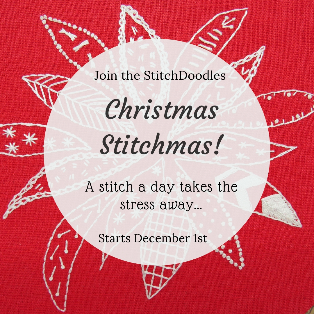 Poinsettia Stitch along by Stitchdoodles