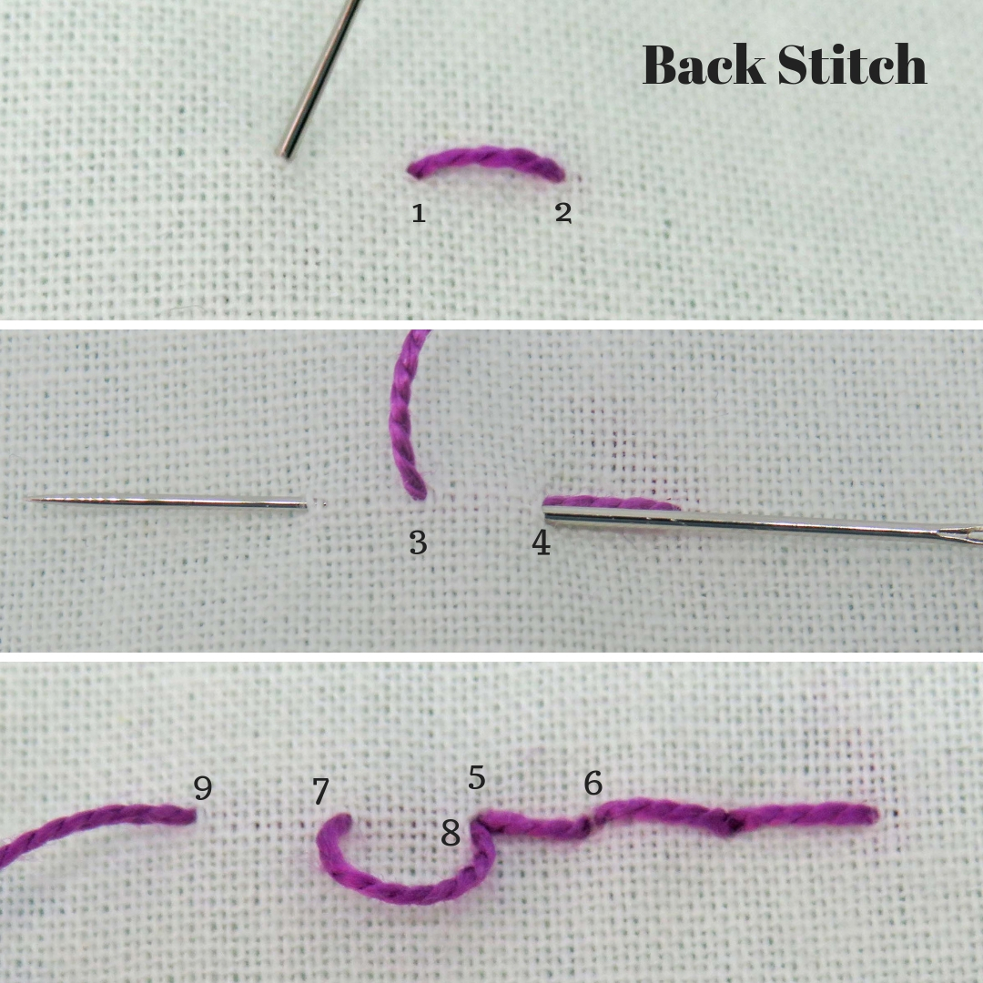 Back Stitch tutorial