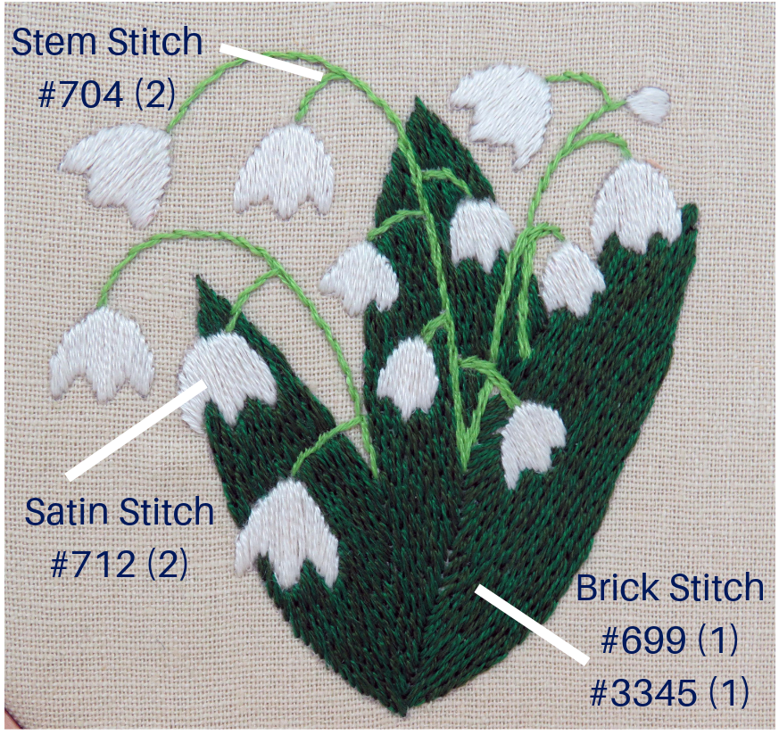 Lily of the Valley Free Pattern by StitchDoodles